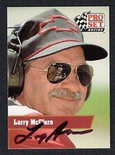 Larry McClure #15 signed autograph auto 1991 Pro Set NASCAR Trading Card