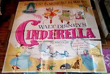 Cinderella 6sh Movie Poster WALT DISNEY Animated Ilene Woods JUNE FORAY R-1965