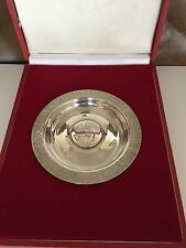 HIGHLY COLLECTABLE CASED QUEEN ELIZABETH II SOLID SILVER JUBILEE DISH 1977 (02)