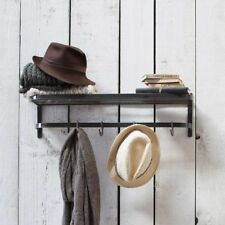 Vintage Industrial Farringdon Luggage Rack complete with shelf and 4 'S hooks