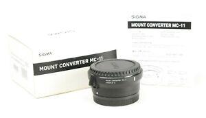 Sigma MC-11 EF- E Converter Canon EF - Sony E  Mount Lens Mount Converter Boxed