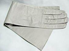 Vintage Long Dove Grey Kid Leather Gloves Paris France 6-3/4 Never Worn Daureine