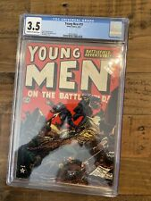 Young Men # 19 In The Battlefield Golden Age Comic Graded 3.5 CGC