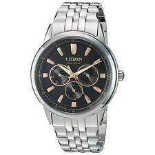Citizen BU2070-55E para hombre corso Eco-Drive Black Dial Day-Date Watch