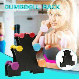 Weight Lifting Barbell 3-Tier Dumbbell Tree/Dumbbell Rack Stand Holder Bracket.