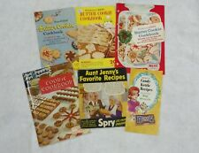 Lot of 6 Vintage Recipe Books Pillsbury Butter Cookies Spry Heath 1950's-60's