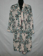 Chelsea 28 Pink Tuscan Floral Cardigan Size XS / S Peony Bud Print NWT