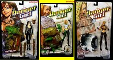 McFarlane Toys Danger Girl Campbell 3 Action Figure Set New 1999 Chase Savage +