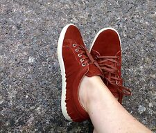 ZARA SUEDE LEATHER FRINGED PLIMSOLLS TRAINERS SNEAKERS FLATS, SIZE UK 5 /EUR 38.