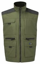 Multi Pocketed Bodywarmer Gilet Utility vest with Warm Inner Fleece lining GREEN