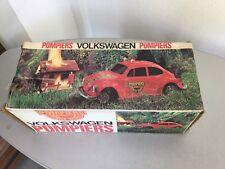 VINTAGE 80s#REEL VW VOLKSWAGEN BEETLE MAGGIOLINO  POMPIERS FIREMAN DEP. POMPIERI