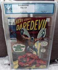 MARVEL Comics DAREDEVIL Cent PGX CGC 6.0 issue  63 1970 csbs