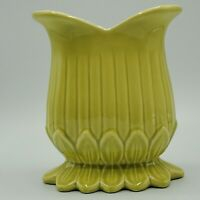 Vintage Red Wing Pottery Charles Murphy M -1440 Green/Gray Vase c1954 NICE