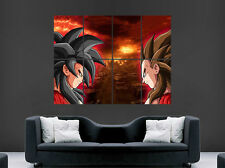 GOKU VS. VEGETA POSTER  SUPER SAIYAN DRAGON BALL Z ART PRINT GIANT MANGA COMIC