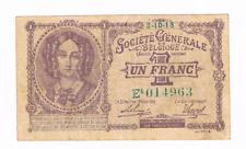 """1 Frank/Franc  type   Generale Maatschappij """"Mauve""""   3.10.1918        Morin 3"""