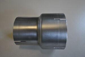 Edelstahl Auspuff Reduzierstück Innenmaße von 63,5mm auf bitte AUSWÄHLEN Adapter