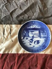 "Royal Copenhagen 1969 Porcelain Plate ""In the Old Farmyard"""