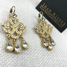 Authentic Joan Rivers Classics Collection Chandelier Earrings Leverback