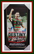 Greg Inglis SIGNED South Sydney Rabbitohs 2014 Premiers DESTINY Frame Official