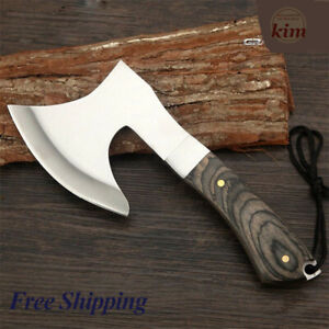 Hunting Tomahawk Axes Hatchet Camping Hand Fire Stainless Steel Axe Boning Knife