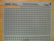 1 x Letraset Science Sheet T 2030  Very Rare ( 10 used )