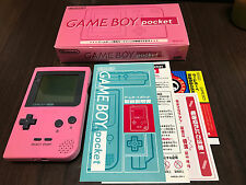 GameBoy Pocket console Pink Color with BOX and Manual.