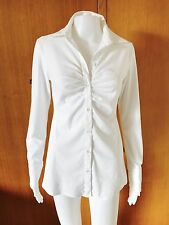 noppies-Maternity-Stretch-White Cotton Shirt-Size XS