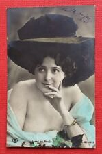 CPA. LIANE DE VRIES. Artiste. 1905?  Grand Chapeau.