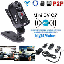 Mini P2P Wireles WiFi IP Camera Indoor/Outdoor HD DV Hidden Spy Q7 Remote Camera