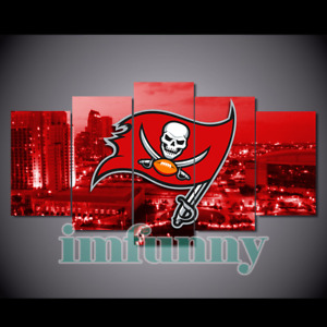 5Pcs Tampa Bay Buccaneers City Canvas Picture Print Painting Wall Art Home Decor