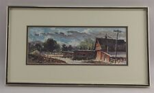 """""""THE RANCH"""" SIGNED WATERCOLOR BY CA LISTED ARTIST LAVERE HUTCHINGS (1918-1998)"""