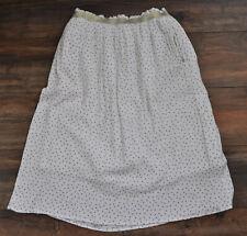 Sweewe Paris Ladies White Polka Dot Skirt Summer Holiday L / Large 100% Viscose