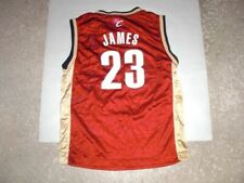 Cleveland Cavaliers LEBRON JAMES Reebok basketball jersey youth Medium
