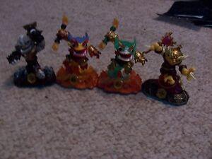 Lot of 4 Skylanders SwapForce Figures (Hoot Loop Fire Kraken And More) Lot #y1