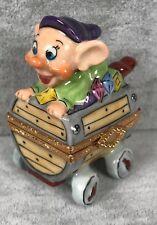 Artoria Dopey Mine Cart Trinket Box - Limoges France Disney LE 92 SIGNED DF 548