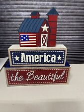 Fourth Of July Decor 7 Inches Across
