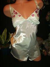 "Satin Nighty Shiny Cami Top Flutter panties Sexy Shiny Lingerie Panties L 42"""