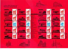 CS76/LS82 LONDON 2012 OLYMPICS & PARALYMPICS GAMES VENUES - SMILERS Stamps Sheet