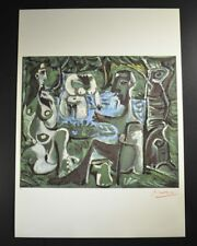"""Pablo Picasso, Signed Lithograph (Female Figures in Green) from """"Les Dejeuners"""""""