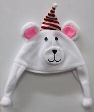 POLAR BEAR HAT Kids Child Cute Winter Christmas Holidays White Fun Cap NEW