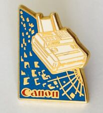 Canon Office Business Fax Machines Retro Advertising Pin Badge Rare Vintage (J8)