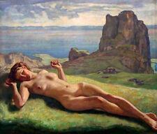 """Original Ölbild """" Die Nackte """" Ernst Liebermann, 1942"""