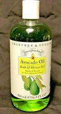 CRABTREE & EVELYN~Avocado Oil~BATH & SHOWER~16.9 FL OZ / 500 mL~NEW