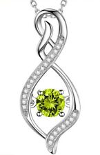 August Birthstone Peridot Necklace For Wife, Birthday Gift For Women,...