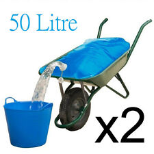 2 Equestrian Horse Cattle Water Container Wheelbarrow Bag H20 Carrier Pourer 50L