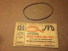 NOS Antique JFD Fabric Radio Dial Belt Number 135 GUARANTEED for Detrola