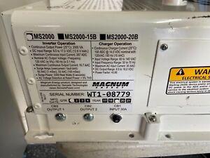 Magnum MS2012 2000W 12V Pure Sine Wave Inverter Charger 100A
