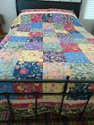 Beautiful+THE+COMPANY+STORE+Reversible+Floral%C2%A0Patchwork+Quilt+KING+93+x+102