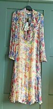 ANTHROPOLOGIE Lily and Lionel Forget Me Not Silk Midi Dress  RRP £245.00 XS