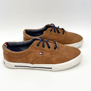 Tommy Hilfiger Boys Youth Sz 12 Rocky Oxford Low Top Lace Up Casual Sneakers